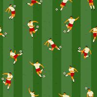 Fotbollsspelare. Vektor sömlöst mönster.