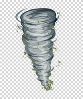 Tornado auf transparentem Hintergrund vektor