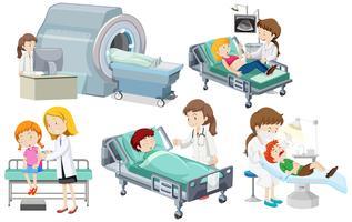 En uppsättning medicinsk vård vektor