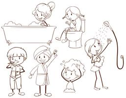 Kinderpflege vektor