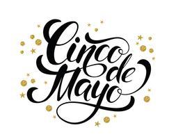 Cinco de Mayo glittrande bokstäver design. vektor