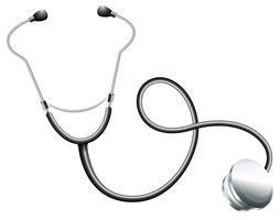 Ein Stethoskop eines Arztes vektor