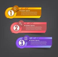 moderne Textfeldvorlage, Banner-Infografiken vektor