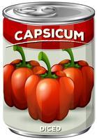 En burk av kryddad Capsicum vektor