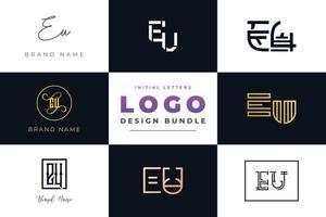 Satz von Sammlung Anfangsbuchstaben Eu-Logo-Design. vektor