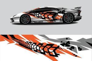 Sportwagen-Wrap-Aufkleber-Design vektor
