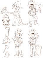 Feuerwehrleute vektor