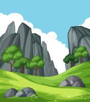Natur berg bergslandskap vektor