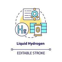 Symbol für flüssiges Wasserstoffkonzept concept vektor