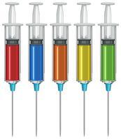 Spritze mit flüssiger Medizin nach innen vektor