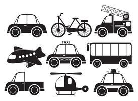 Olika typer av fordon vektor