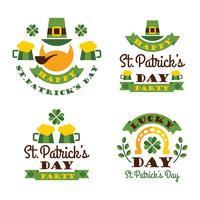 Typografisk Saint Patricks Day Design. vektor
