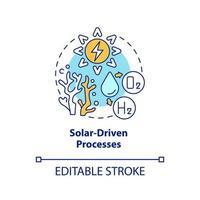 Symbol für Solarenergiekonzept vektor