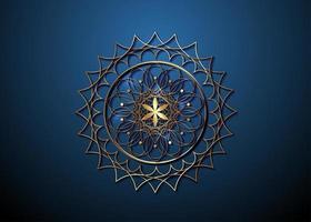 Goldsamen des Lebenssymbols heilige Geometrie. Logo-Symbol vektor