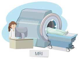 MRI-Scannen auf weißem Hintergrund