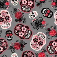 Dia de los muertos. Tag der Toten. Nahtloses Muster