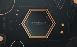 modernes geometrisches Sechseck-Design vektor