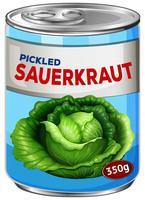 Eingelegtes Sauerkraut vektor