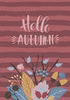 Herbst-Vorlagen Vector Design für Karten, Poster, Flyer, Web und andere Benutzer.