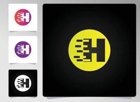 h Brief Logo abstraktes Design vektor