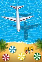 Flygplan som flyger över havet