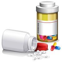 Behållare av medicinska piller vektor