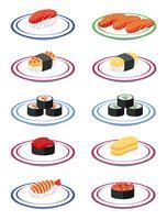 En uppsättning japanska sushi