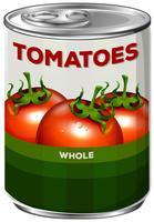 Kan av hela tomater vektor