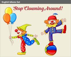 Verspielte Clowns vektor
