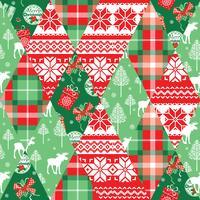 Nahtloser Hintergrund des Patchworks des Weihnachten und des neuen Jahres. vektor