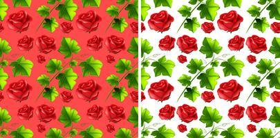 Sömlös bakgrundsdesign med röda rosor vektor