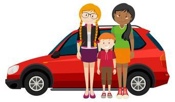 Eine glückliche LGBT-Adoptionsfamilie