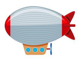 En stor grå och röd blimp vektor