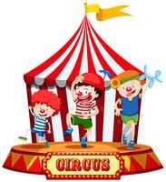 Kinder auf der Zirkusbühne vektor
