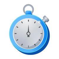 Stoppuhr und Zeit vektor