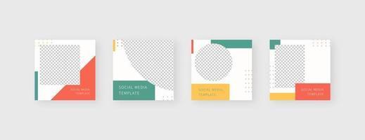 Social-Media-Vorlage. trendige bearbeitbare Social-Media-Post-Vorlage. vektor