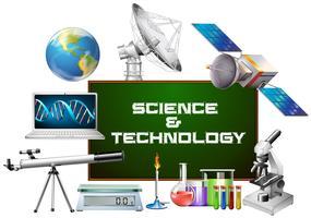 Vetenskap och teknik utrustning vektor