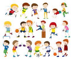 Eine Reihe von Aktivitäten für Kinder vektor