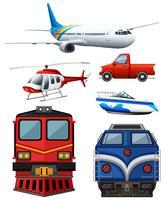 Verschiedene Transportarten