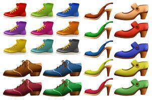 Verschiedene Designs von Schuhen vektor
