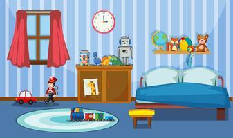 Eine niedliche Schlafzimmervorlage