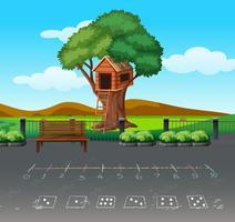 Math spel på playgound landskap vektor