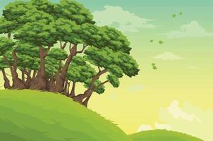 schöne Landschaftshintergrundillustration vektor
