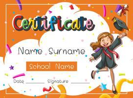 Zertifikat für junge Studenten vektor