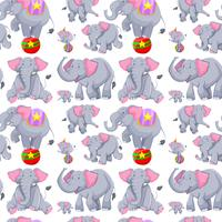 Sömlös bakgrund med grå elefanter