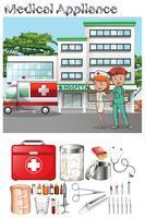 Läkare och sjuksköterska på sjukhuset vektor