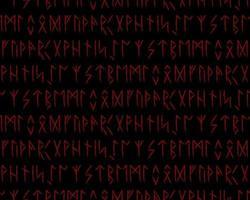 nahtloses Muster. Runen-Talismane. Magie und magische Runen. vektor