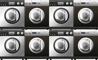 Tvättmaskiner i svart och vitt