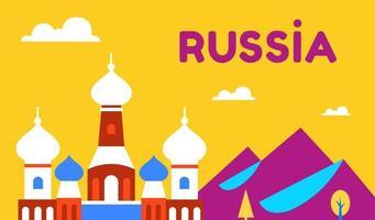 Russland. Natur und die orthodoxe Kirche. russische Kultur, Religion. vektor