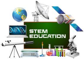Stamundervisning ombord och olika enheter vektor
